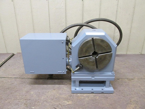 """Brown & Sharpe 360K-C77-DL-EM-1C CNC Indexing Table 4th Axis 9"""" Hydraulic Clamp"""