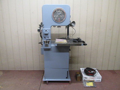 "DoAll Model 16-S.F.P Vertical Bandsaw 16"" Variable Speed Band Saw w/Blade Welder"