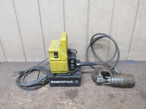 Enerpac PUD1100B Portable Electric Hydraulic Pump w/35 Ton Punch 10,000 PSI