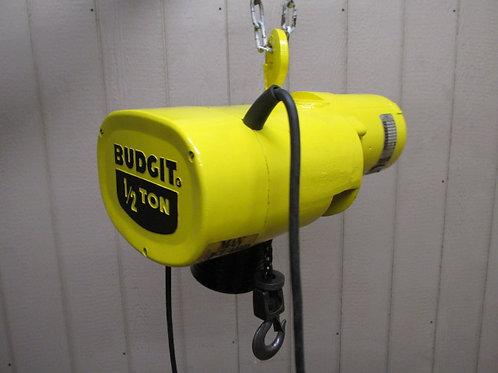 Budgit 113452-5 Electric Chain Hoist 1/2 Ton 1000 Lbs 3 PH 10' Ft. Lift 16 FPM