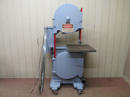 """Tannewitz Model E24 Vertical Bandsaw 24"""" Wood Cutting Woodworking 1 HP 3 PH"""