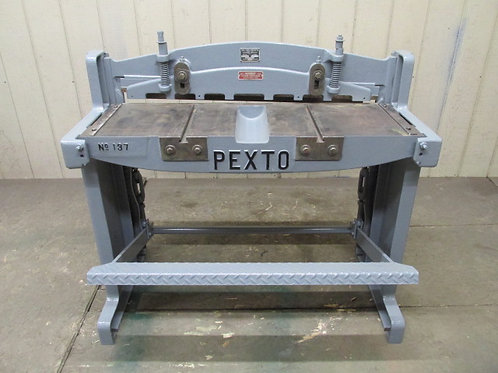 "Pexto Peck Stow & Wilcox 137-K Manual Foot Kick Shear 37"" Sheer w/Backstop Gauge"