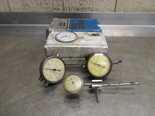 "L.S. Starrett Standard Federal Teclock Indicator Gauges .001"" .0001"""
