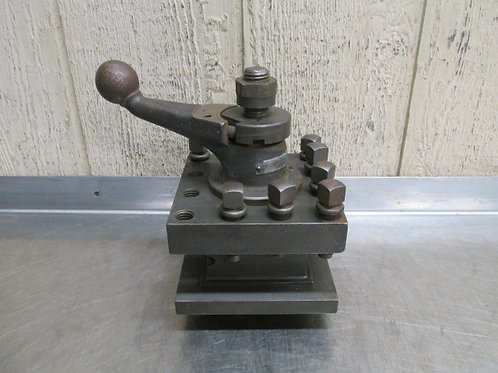 """McCrosky 956 4-Way Lathe Tool Holder Post 5-1/4"""" Square Indexing Style"""