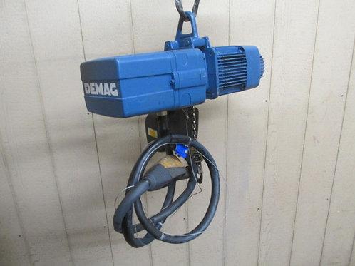 Demag DKUN-2-125-K-V3-F6 Electric Chain Hoist 1/8 Ton 275 Lbs 3 PH 13' Lift