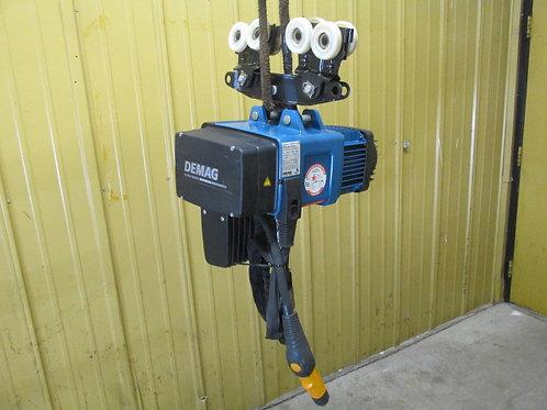 Demag DC-COM-10-1000-1/1-H5-V4,8/1.2 Electric Chain Hoist 1 Ton 2200 Lbs 2 Speed