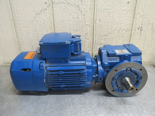 Sew-Eurodrive SF47DRE80M4BE1HR/ASB8 Gearmotor w/Brake 1 HP 122 RPM 14.24:1 Ratio