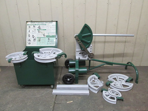"Greenlee 1818 Mechanical Pipe Conduit Bender Portable 3/4"" to 2"" EMT Ridgid"