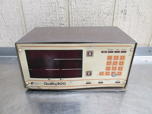 Quality Measurement Systems 800 DRO Display Digital Readout 2 Axis   #2