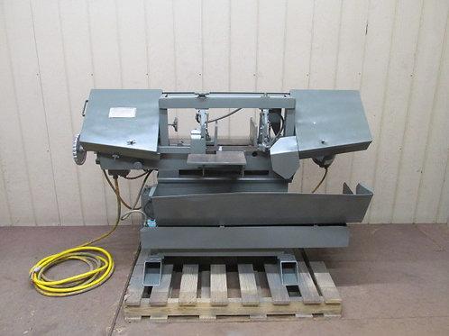 """W.F. Wells L-9 Horizontal Metal Cutting Bandsaw Hydraulic Feed 9"""" x 16"""" 2 HP"""