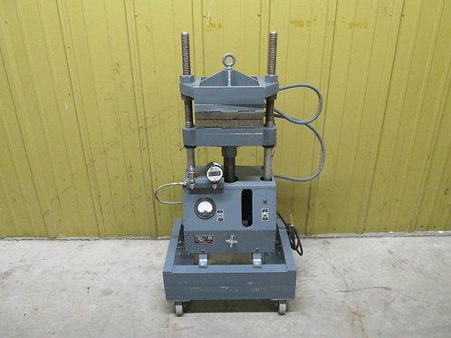 Wabash 12-10 Hydraulic Press Platen 4 Post Press 12 Ton Manual Pump