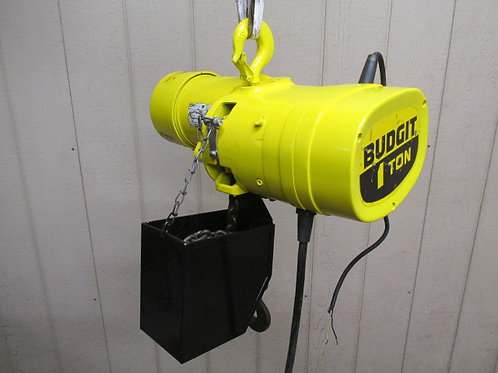 Budgit BEH0108 Electric Chain Hoist 1 Ton 2000 Lbs 1 PH 115/230v 25' Ft. Lift