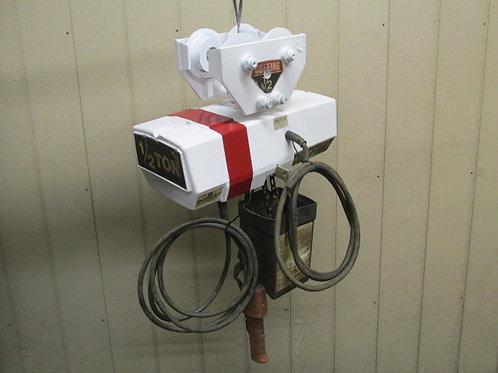 Coffing EC-1016-3 Electric Chain Hoist w/Trolley 1/2 Ton 1000 Lbs 3 PH 230/460v