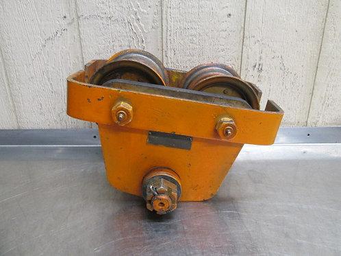 Budgit 3 Ton Manual Overhead Electric Chain Hoist I-Beam Trolley 6000 Lbs