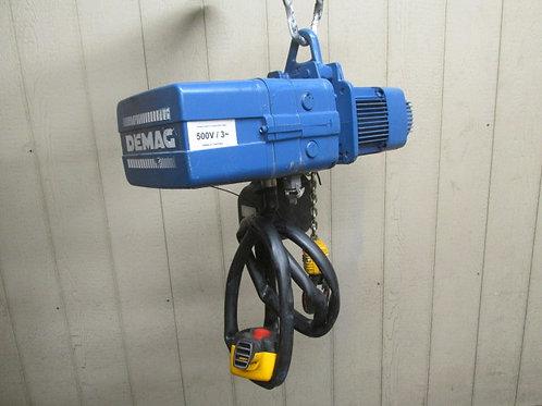 Demag DKES-5-500-K-V2-DI Electric Chain Hoist 1/2 Ton 1100 Lbs 3 PH 13' Lift