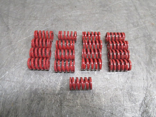 "Danly 9-1004-26 Red Die Spring 5/8"" x 1"" Heavy Duty Replacement Lot of 17"