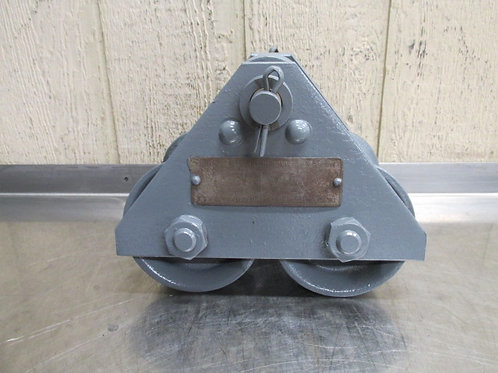 Yale Model H Manual Overhead Electric Chain Hoist I-Beam Trolley 1 Ton 2000 Lbs