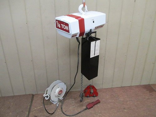 Coffing EC-0516-3 Electric Chain Hoist w/Trolley 1/4 Ton 500 Lbs 45' Ft. Lift