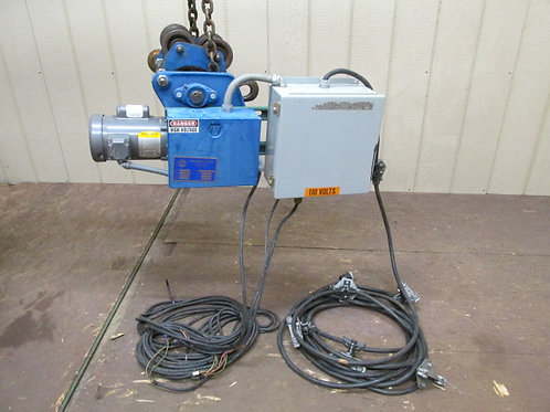 David Round Electric Chain Cable Hoist Power Trolley 1 PH 115/230v Single Phase