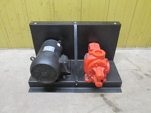 "Roper 3617HB Helical Gear Pump 127.5 GPM 125 PSI 2"" Ports w/3 PH 5 HP Motor"