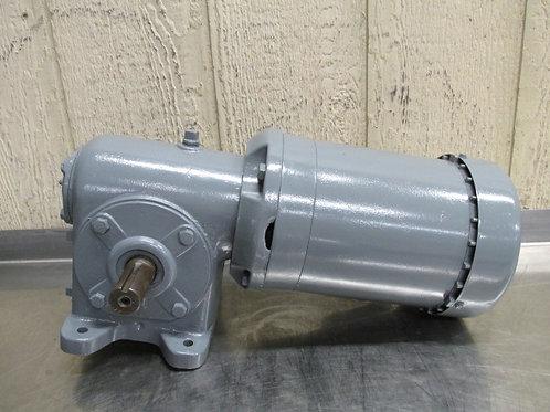 Dayton Morse Borg-Warner 20GCT Electric Gearmotor 1/2 HP 15:1 Ratio 116 RPM 3 PH