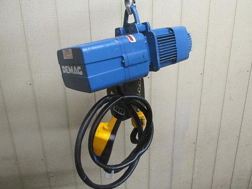 Demag DKUN-5-500-K-V1-F4 Electric Chain Hoist 1/2 Ton 1100 Lbs 3 PH 13' Lift
