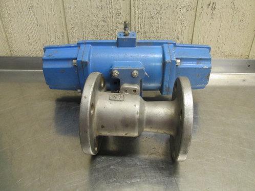 "Neles-Jamesbury 2-5150-31-3600 SS Ball Valve w/VPJ08DQ Pneumatic Actuator 2"""