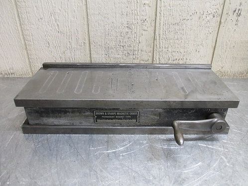 "Brown & Sharpe No. 618 6"" x 18"" Permanent Magnet Magnetic Chuck Manual Switch"