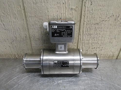 "ABB Asea Brown Boveri DE21 Flow Meter DN50/PN10  2"" Sanitary Tri-Clover Fitting"