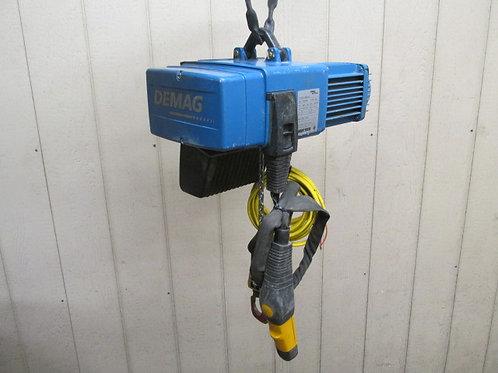 2004 Demag DC2-250-H5-V1 Electric Chain Hoist 1/4 Ton 550 Lbs 3 PH 8/32 FPM