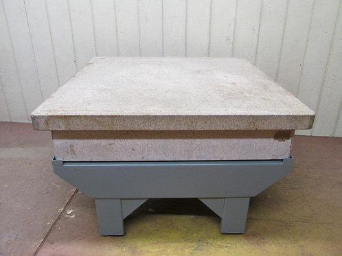 """Herman Surface Plate 48"""" x 48"""" Precision Inspection Table on Stand Grade A"""