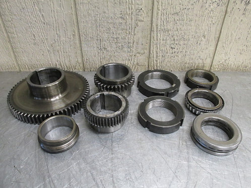 Kent Model KLS-1540 Lathe Headstock Spindle Gear Set Gears Locknut Bearing