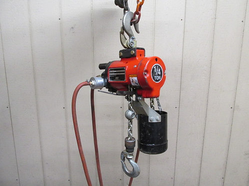 Ingersoll Rand ARO 7718E-2K0-K00S Pneumatic Air Chain Hoist 10' Lift 1/4 Ton