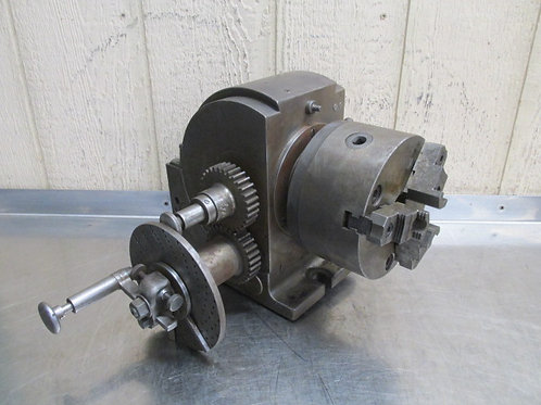 """Cushman 6.5"""" Indexer Dividing Indexing Head Super Spacer 3 Jaw Chuck"""