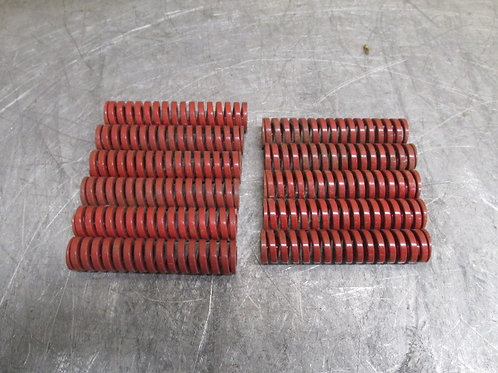 """Danly 9-1214-26 Red Die Spring 3/4"""" x 3-1/2"""" Heavy Duty Replacement Lot of 11"""