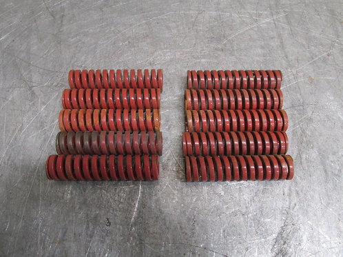 "Danly 9-1212-26 Red Die Spring 3/4"" x 3"" Heavy Duty Replacement Lot of 10"