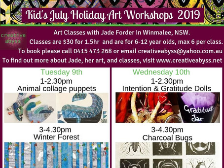 JULY HOLIDAY WORKSHOPS