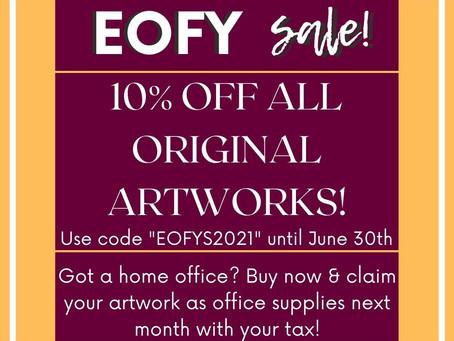 Art Sale Time! EOFYS