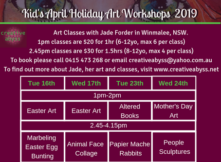 April Holiday Art Workshops For Kids 2019