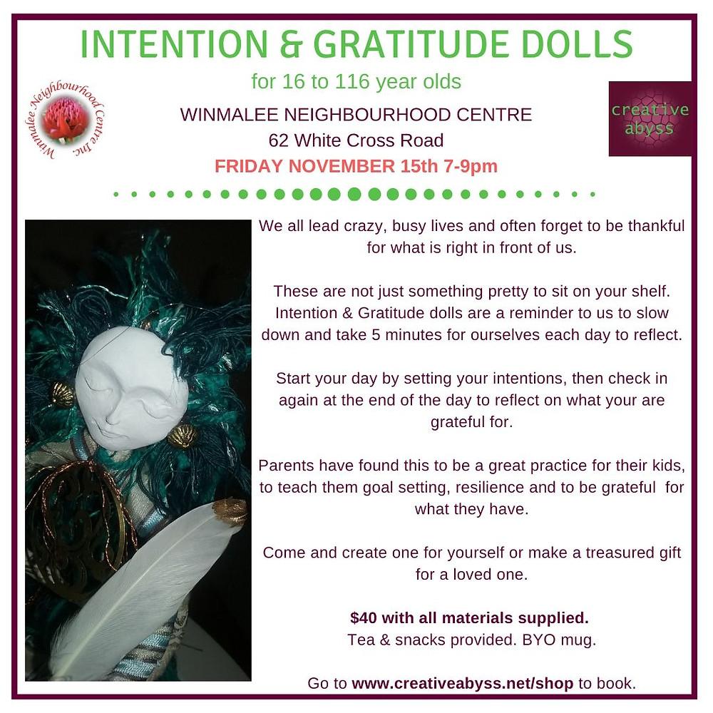 Intention & Gratiude Doll class add