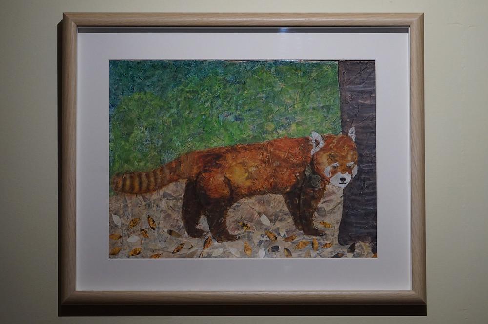 Red panda painting