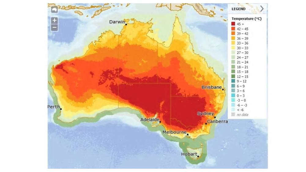 hot Australian weather January 2019