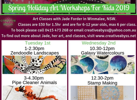 Spring Holiday Art CLasses