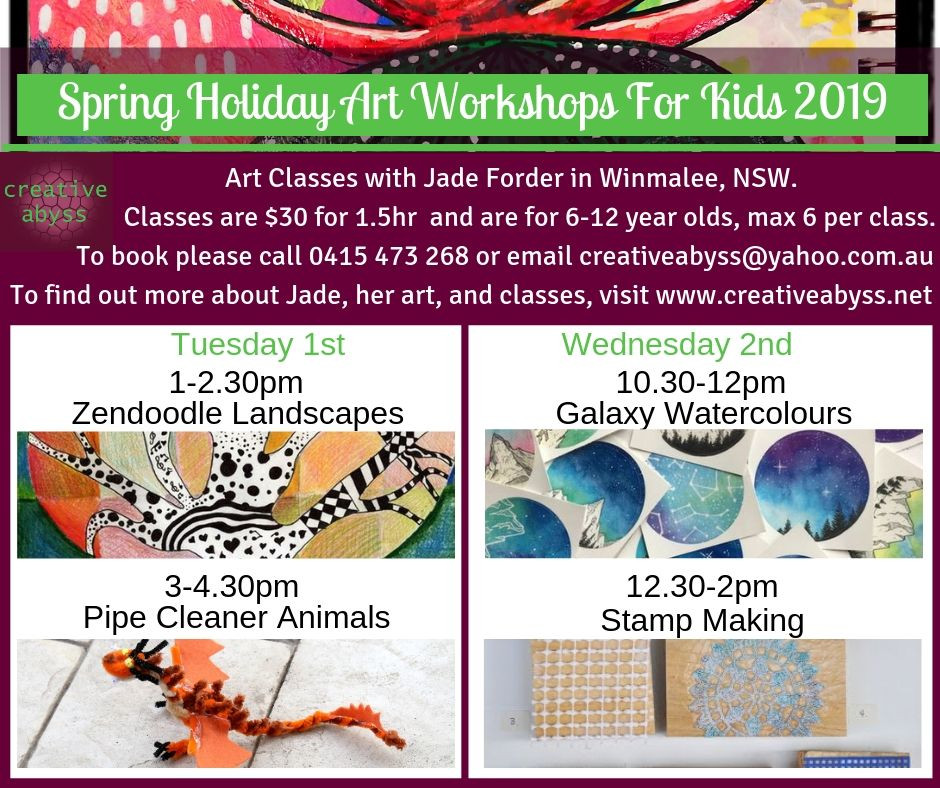 Spring holiday art program with Creative Abyss