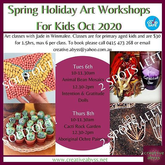 Spring Holiday Art Workshops For Kids so