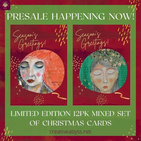 Gratitude & Frankie Christmas cards
