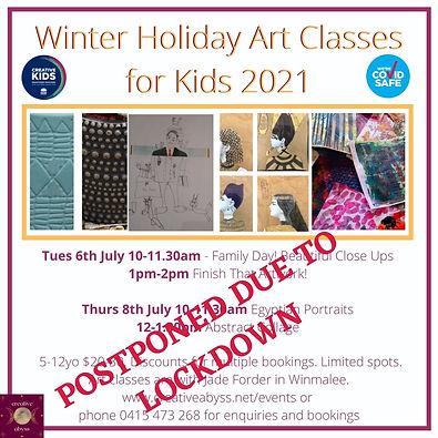 POstponed Holiday Art Classes for Kids 2