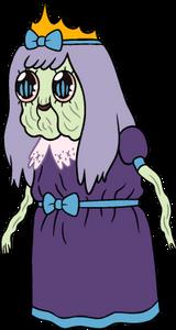 Wrinkly princess cartoon