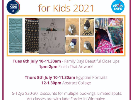 July Holiday Art Classes