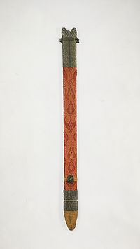 Red Damascus Sword and Wall Decoration